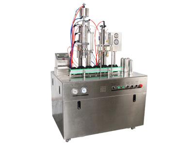 小型全自动二元包装气雾剂灌装机